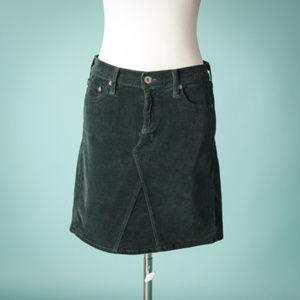 AG 29 Gray Corduroy Mid Box Skirt